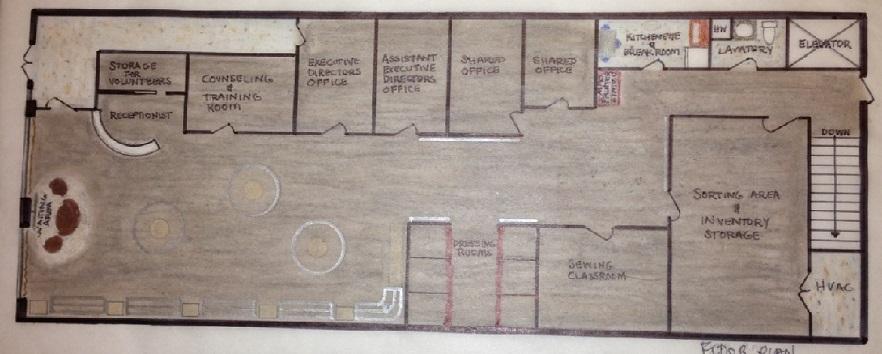 Barbara rue surentz interior designer interior design for Retail store floor plan maker